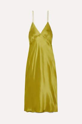 Issa Olivia von Halle Silk-satin Nightdress - Chartreuse