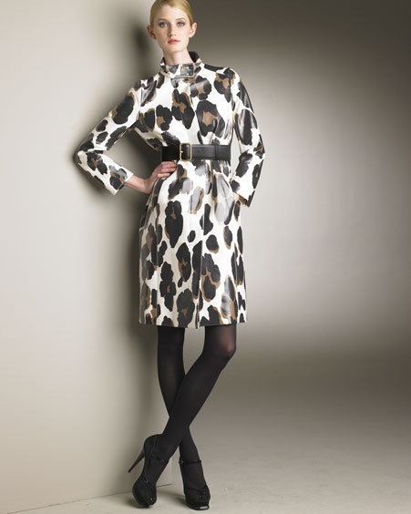 Yves Saint Laurent Waterproof Leopard-Printed Coat