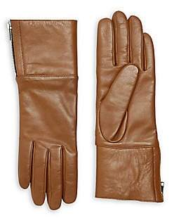 Carolina Amato Women's Touch Tech Leather & Shearling Gloves