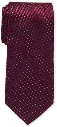 Perry Ellis Portfolio Red Henley Neat Silk Tie