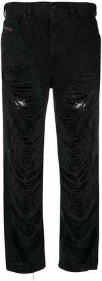 Diesel distressed cropped jeans
