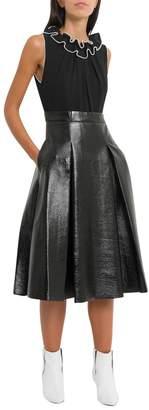 Three floor Midi Dress With Pleated Skirt