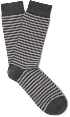 Sunspel Striped Stretch-Cotton Blend Socks