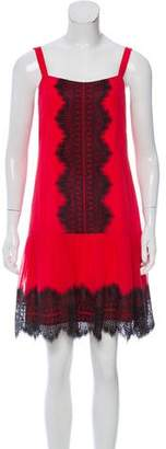 ALICE by Temperley Silk Lace-Trimmed Dress