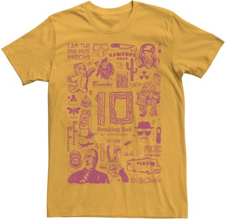 Icons Licensed Character Men's Breaking Bad 10th Anniversary Collage Tee