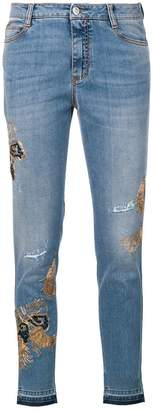 Ermanno Scervino embroidered skinny jeans