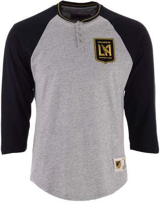 Mitchell & Ness Men's Los Angeles Football Club 4 Button Henley T-Shirt