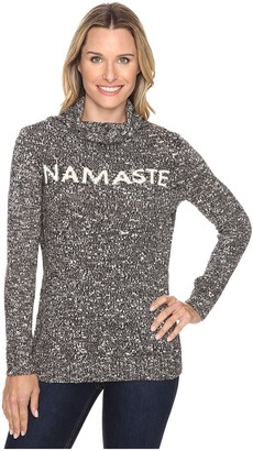 Life is good Namaste Funnel Neck Sweater $88 thestylecure.com