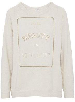 Brunello Cucinelli Appliquéd Virgin Wool And Cashmere-Blend Sweater