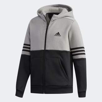 adidas (アディダス) - B SPORT ID ハイブリッド スウェットフルジップパーカー [裏起毛]