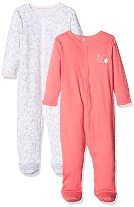 Name It Baby Girls' Nbfnightsuit W/f Noos Sleepsuit,Pack of 2