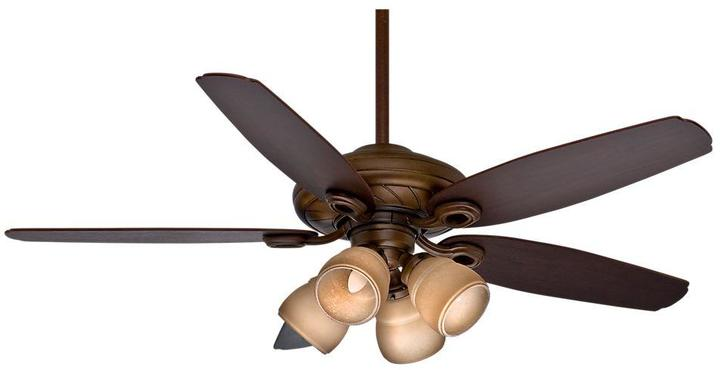 Casablanca Capistrano Gallery 52 in. Indoor Acadia Ceiling Fan with 4-Speed Wall Mount Control