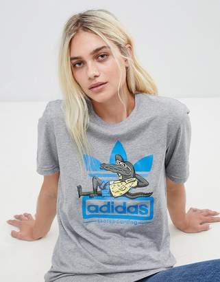 adidas Skateboarding Skateboarding Oversized T-Shirt With Trefoil Logo