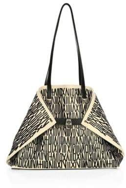 Akris 3D Printed Medium Leather Shoulder Bag