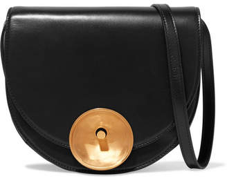 Marni Monile Large Leather Shoulder Bag - Black