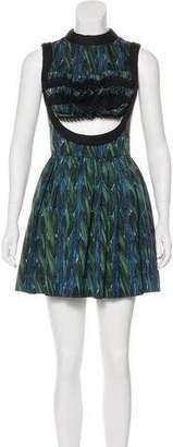 Prada Rope Print Cutout Dress