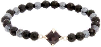 Chan Luu Silver Gemstone & Crystal Stretch Bracelet