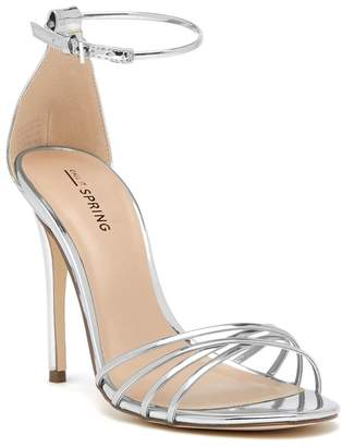 Silver Shopstyle Strap Heels Silver Ankle Yfg76by