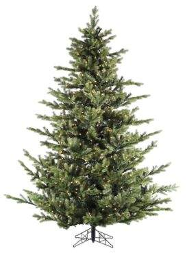 Fraser Hill Farms Foxtail Pine Multi-Color LED String Lighting Christmas Tree- 7.5 Ft.