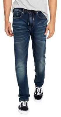 Buffalo David Bitton Casper-X Sanded & Whiskered Slim-Fit Jeans