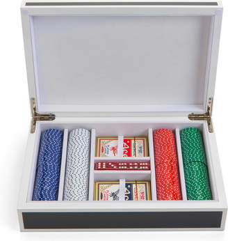 Aurosi 200 pieces Lacquer Poker set in Grey and White