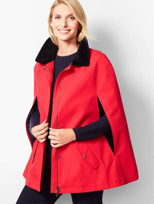 Talbots Donegal Funnel-Neck Poncho