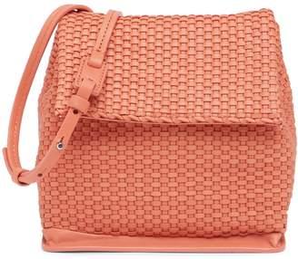 Christopher Kon Mini Woven Leather Crossbody Bag