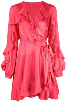 Patbo ruffle sleeve wrap dress