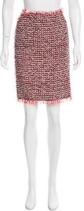 Lanvin Fringe-Accented Knit Skirt