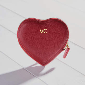 998d3c4a7a0 Hurleyburley Personalised Initials Luxury Leather Heart Purse