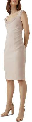 Karen Millen Lace-Trim Sheath Dress