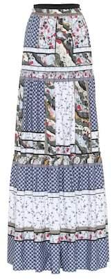 Erdem Sigrid cotton patchwork maxi skirt