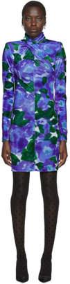 Richard Quinn Blue Floral Dress