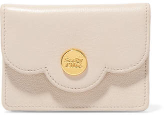 See by Chloe Polina Mini Scalloped Textured-leather Wallet - Cream