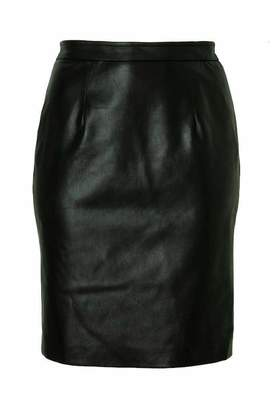 b803f26b4a All67 Leatherette Pencil Skirt in Black Size 12 Vegan Leather