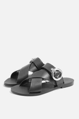 Faze cross strap flat sandals