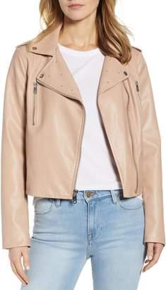 Sam Edelman Washed Faux Leather Moto Jacket