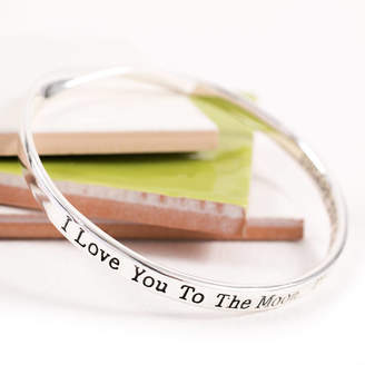 Lovethelinks I Love You To The Moon Stars And Beyond Message Bangle