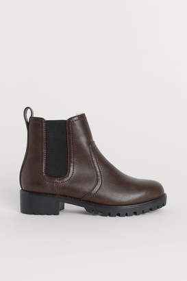 H&M Warm-lined Chelsea Boots - Brown