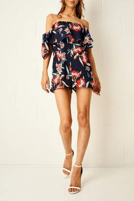 Bardot frontrow Floral Playsuit