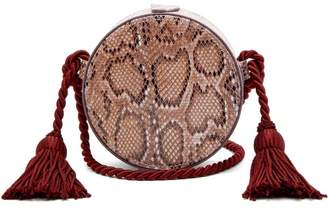 Hillier Bartley - Python Effect Faux Leather Cross Body Bag - Womens - Burgundy Multi