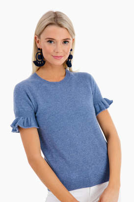 Minnie Rose Ruffle Sleeve Cashmere Crew