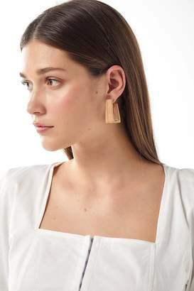 Soko Raba Wood Hoop Earring