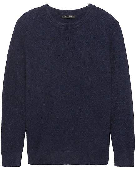Chunky Metallic Crew-Neck Sweater