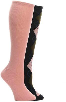 Aldo Argyle Knee Socks - 2 Pack - Women's