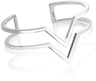 Myla Edge of Ember Topaz Cuff Silver