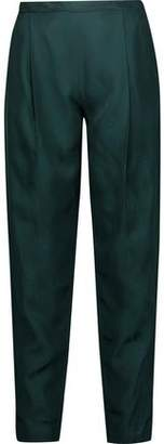 Rosetta Getty Printed Faille Tapered Pants