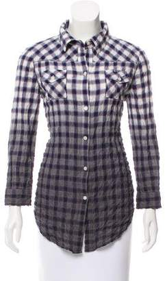 Elizabeth and James Plaid Button-Up Shirt