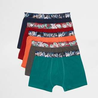 River Island Mens Navy multicolored floral trunks multipack