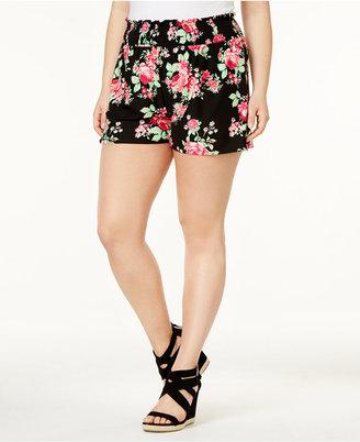 Planet Gold Trendy Plus Size Soft Shorts $39 thestylecure.com